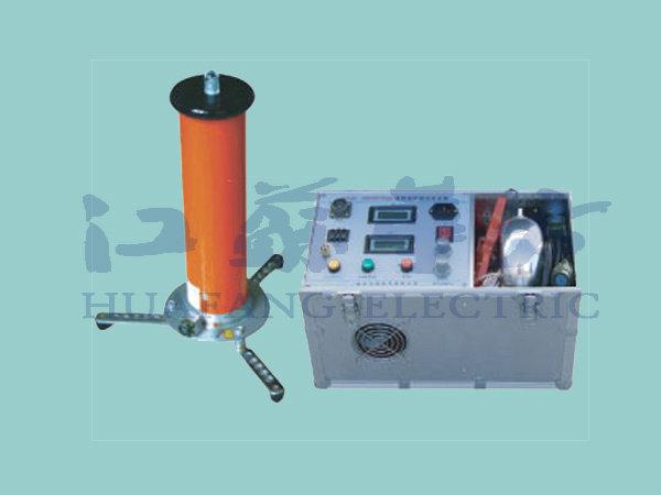 2.打开电源开关,此时电源开关绿灯和面板表亮。则高压指示绿灯亮,如高压提示蜂鸣器处在开的位置,则鸣叫以提示操作者在加高压,此时,顺时针旋转高压输出调节钮,则升高压,电压表显示为负载试品上的电压KV值,电流表则显示试品上流过的电流与所有泄漏电流之和,但不包括内置高压分压器的电流。电流以微安单位UA值。